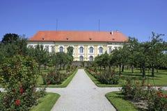 Земли замка в Dachau, Баварии, Германии Стоковые Изображения