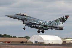 Земли тайфуна Luftwaffe немца на RIAT Стоковые Фото
