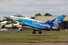 Земли тайфуна Luftwaffe немца на RIAT Стоковое Изображение RF