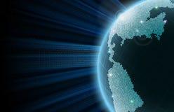 Земля Большие данные иллюстрация вектора