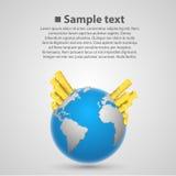 Земля валюты мира Стоковые Изображения RF