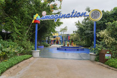 Земля воображения одна из привлекательности в Legoland Малайзии изображение празднества зрелищности 21 сражения большое белорусск Стоковое фото RF