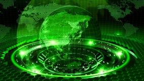 Земля вращанная на зеленой петле иллюстрация штока