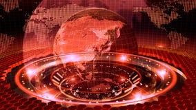Земля вращанная на красной петле иллюстрация вектора