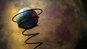 Земля в движении на весне сток-видео