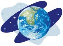 Земля в космосе Стоковая Фотография