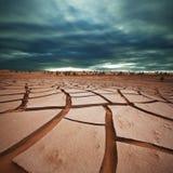 Земля засухи в Гоби Стоковые Изображения