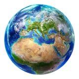 Земля изолированная Европа - иллюстрация штока