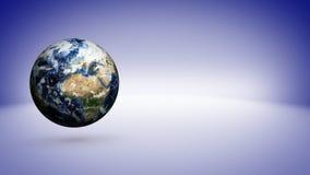Земля и голубая пустая предпосылка космоса стоковые изображения