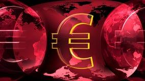 Земля и евро иллюстрация штока