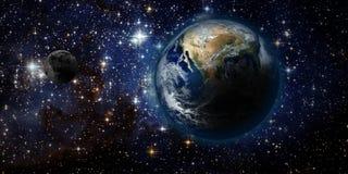 Земля и космос иллюстрация вектора