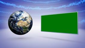 Земля и предпосылка баров технологии дела Стоковая Фотография RF