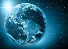 Земля и свет планеты Стоковое Изображение RF