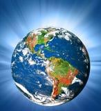Земля и свет планеты Стоковое фото RF