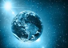 Земля и свет планеты Стоковая Фотография RF