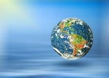 Земля и свет планеты Стоковые Изображения