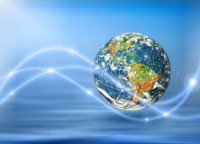 Земля и свет планеты Стоковое Фото
