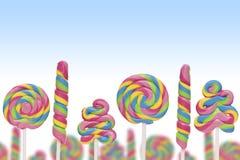 Земля конфеты фантазии сладостная с lollies Стоковое Фото