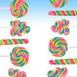 Земля конфеты фантазии сладостная с lollies Стоковое Изображение RF