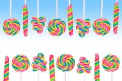 Земля конфеты фантазии сладостная с lollies Стоковое Изображение