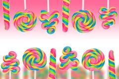 Земля конфеты фантазии сладостная с lollies Стоковые Фотографии RF
