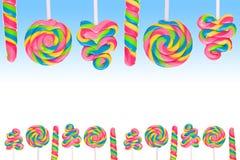 Земля конфеты фантазии сладостная с lollies Стоковая Фотография