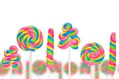 Земля конфеты фантазии сладостная с lollies Стоковые Изображения RF