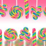 Земля конфеты фантазии сладостная с lollies Стоковое фото RF