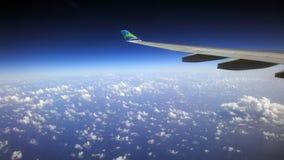 Земля космоса моря неба плоская Стоковые Изображения
