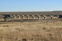 Земля моста поезда Стоковая Фотография
