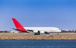 Земля дня стороны самолета A380 Стоковые Изображения RF