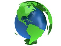 земля 2430 обеспечила visibleearth взгляда США текстуры rec планеты php NASA изображения удостоверения личности http gov глобуса  Стоковое Изображение