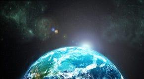 Земля от космического пространства Стоковые Изображения