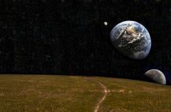 земля от различного wiew Стоковая Фотография RF
