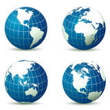 Земля от различной иллюстрации вектора углов Стоковое Фото