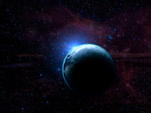 Земля планеты в космическом пространстве Стоковое фото RF