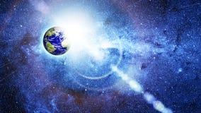 Земля планеты в космосе Стоковое фото RF