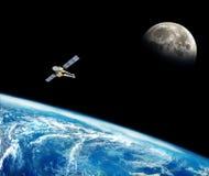 Земля планеты в космосе Стоковые Изображения RF