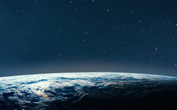 Земля планеты от космоса на ноче Стоковые Фотографии RF