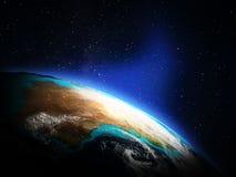 Земля планеты от космоса Стоковое Изображение