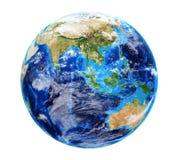 Земля планеты с облаками Стоковое Изображение