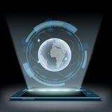 Земля планеты Hologram Стоковое Фото