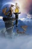 Земля 2 дракона Стоковые Изображения