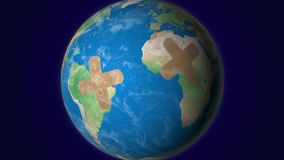 земля ранила иллюстрация вектора