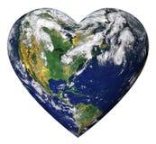 Земля сердца стоковая фотография rf