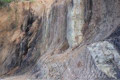 Земля скалы сухая и текстурированный Стоковые Изображения RF