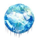 Земля снежного кома иллюстрация вектора