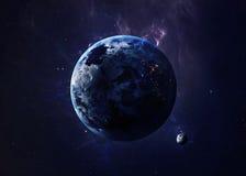 Земля сняла от космоса показывая всем их красота Стоковая Фотография