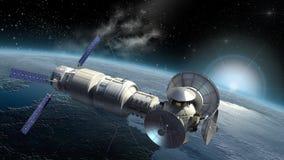 Земля спутника исследуя Стоковые Изображения