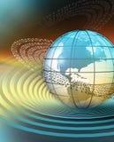 Земля с бинарным кодом Стоковая Фотография